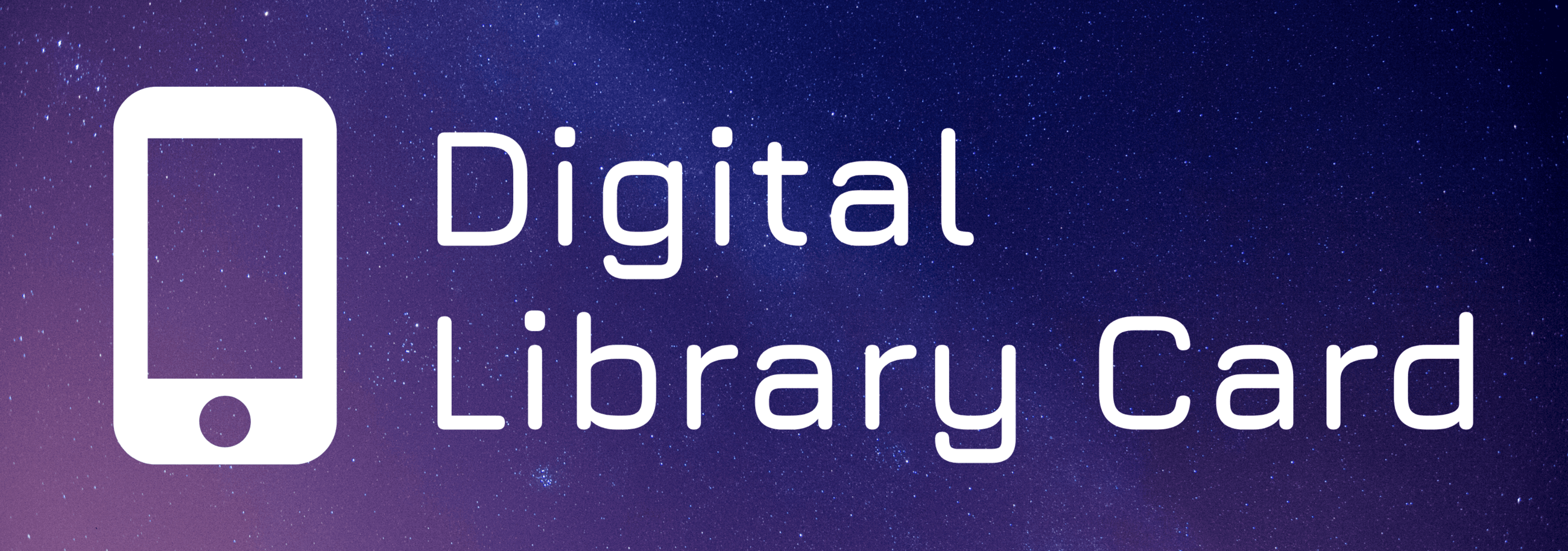Digital Library Card Banner
